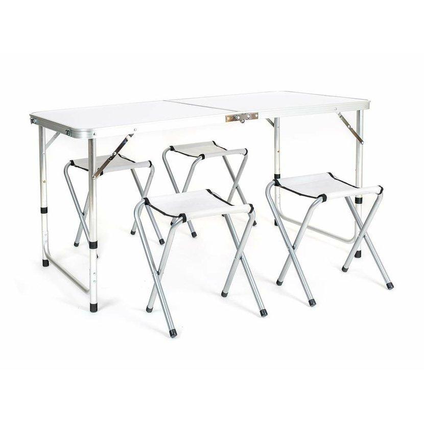2eebe866dbc5b Campingová súprava BILBAO, stôl + 4 skladacie stoličky | Vetroshop.sk